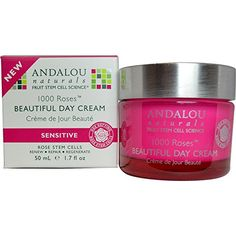 Andalou Naturals 1000 Roses Beautiful Day Cream Sensitive -- 1.7 fl oz * CHECK OUT @ http://www.sheamoistureproducts.com/store/andalou-naturals-1000-roses-beautiful-day-cream-sensitive-1-7-fl-oz/?a=8055
