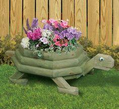 Large Landscape Timber Turtle Planter Plans