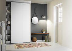Kvik Basic sliding doors. Great hallway solution. Danish Design. Welcome home :-)