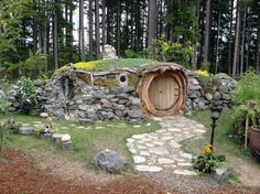 This adorable Hobbit-inspired hut is located inside The Brother's Greenhouses garden center. During business hours, you can take a trip inside the charming little earthen building, take photos, and even sign their guest book.