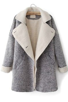 grey shearling