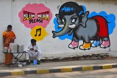 Uber cool ! - painted by Poch in Bangalore, India. For @indu