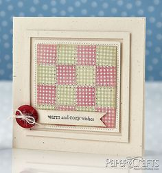 Quilted & Cozy Card by Amber Kemp-Gerstel @Damask Love