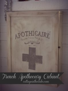 French Apothecary Cabinet ::: Pharmacy Cabinet