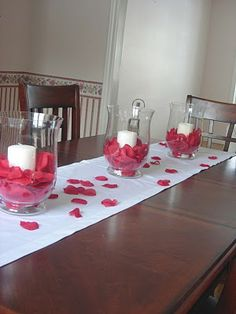 Simple Valentine Table Decor | styleitchic: EASY AND CHEAP & CHIC IDEAS FOR VALENTINE DAY!