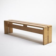 Charlotte Perriand, Pine Bench from Les Arcs, c1968.