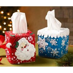 Tissue Box Covers Felt & Sequin Kit - for inspiration only