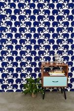 Stamp Tapestry Throw in Navy at Urban Outfitters
