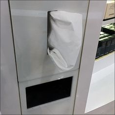 This Built-In Tissue Holder Cosmetics Amenity provides an ongoing supply. Built into the cabinetry with. Tissue Holders, Visual Merchandising, Retail, Cosmetics, Bedroom, Building, Buildings, Bedrooms, Construction