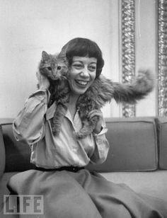 Imogene Coca and her cat