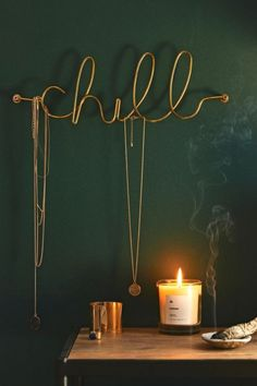 Delicate brass wall hook bent into cursive script for your jewelry, keys + other small accessories to chill on! Only available at Urban Outfitters. Great for your room or a teen Decorating Your Home, Diy Home Decor, Decorating Tips, Cool Ideas, My New Room, Room Inspiration, Home Accessories, Sweet Home, Bedroom Decor