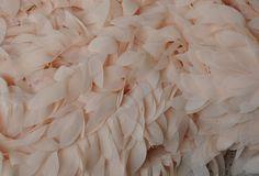 Blush Lace Trim Chiffon Lace Trims with Ribbon Back for Bridal
