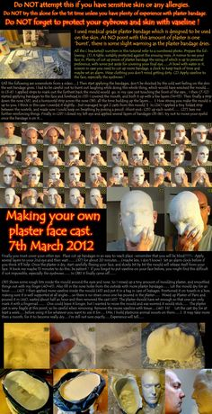 Make your own plaster face cast..... by melesmeles-faber.deviantart.com on @deviantART