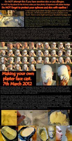 Make your own plaster face cast..... by melesmeles-faber.deviantart.com on @deviantART