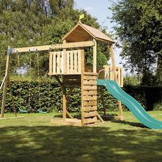 Kingswood 2 Tower and Swing arm with CrazyWavy Slide