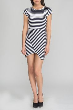 Anna Morellini striped Dress in Black and White
