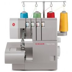 Singer Heavy Duty 4 Thread Serger With Differential Feed Overlock Singer, Free Sewing, Hand Sewing, Costura Industrial, Machine Singer, Pfaff, Different Stitches, Thread Spools, Joanns Fabric And Crafts