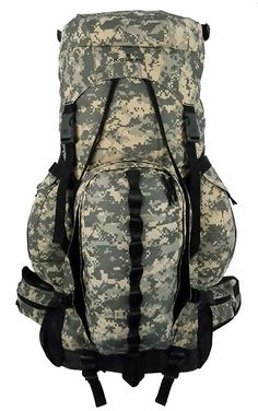 Expandable Hiking Backpack Large 6000ci-8000ci Camping Backpack Scout Daypack Aluminum Frame Sport Pack Outdoor Big Travel Bag *** Quickly view this special  product, click the image : Travel Backpack