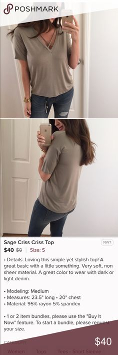 REPOSHING @mrsalliexo REPOSHING from @mrsalliexo. Her pictures and description. Check out her closet @mrsalliexo @mrsalliexo Tops Tees - Short Sleeve
