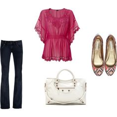 Flowy top and the shoes