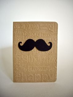 mustache card mustache birthday card happy by JDooreCreations. Make a difference! Be sure to visit and LIKE our Facebook page at https://www.facebook.com/drmurraymovember