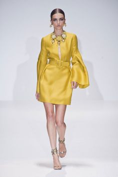 the color, the cut, the sleeves...love this look from Gucci