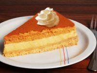 Sütőtökös mascarpone torta Vanilla Cake, Cheesecake, Muffin, Desserts, Food, Drinks, Mascarpone, Tailgate Desserts, Drinking