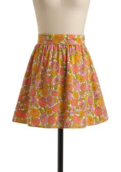I need to find a simple skirt pattern and some vintage sheets and make a whole slew of cute skirts.