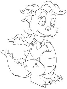 http://ColoringToolkit.com --> dragon coloring pages --> If you\'re ...