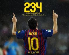 Leo Messi is now the  top goalscorer of FC Barcelona
