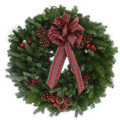 Worcester Wreath 20-Inch Highland Maine Balsam Wreath