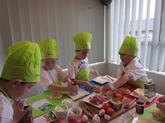 Chef Party- ideas include fruit art, fruit kebabs, mini-pizzas.