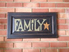 FAMILY Cabinet door sign by cathieparslow on Etsy, $25.00