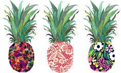 Printed Pineapples