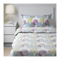 MALIN RUND Quilt cover and 2 pillowcases - 150x200/50x80 cm - IKEA