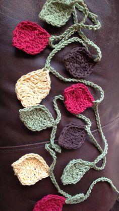 Fall Leaf Crochet bunting / garland on Etsy, $14.00