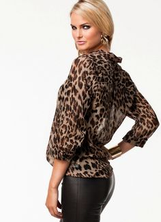Leopard Print Blouse - Casual Style Email lillilouise@outlook.com to order