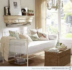 Shop savannah daybed with trundle from Pottery Barn. Our furniture, home decor and accessories collections feature savannah daybed with trundle in quality materials and classic styles. Daybed Couch, Daybed Room, Daybed Mattress, Daybed With Trundle, Small Daybed, Upholstered Daybed, Shabby Chic Bedrooms, Shabby Chic Furniture, Home Furniture