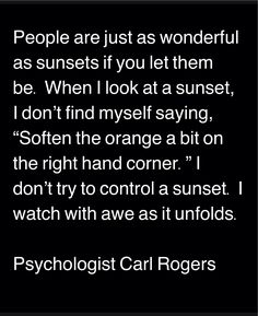 ... people, as wonderful as sunsets...