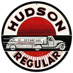 Vintage and Retro Wall Decor - JackandFriends.com - Retro Hudson Gasoline Tin Sign, $35.97 (http://www.jackandfriends.com/retro-hudson-gasoline-tin-sign/)