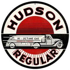 Vintage and Retro Wall Decor - JackandFriends.com - Retro Hudson Gasoline Tin Sign, $35.97 (http://www.jackandfriends.com/retro-hudson-gasoline-tin-sign/)