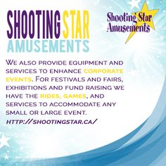 Shooting Star Amusements is a midway company featuring rides, games and more. Come and enjoy carnivals across British Columbia - Fun for all ages! For more information visit our website: http://shootingstar.ca/
