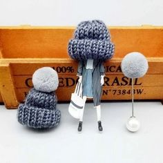 Cute set of 3 pins: girl wearing large winter cap, cap with pompom and pompom pin.Add unique element to your winter outfit! Cap Girl, Boy Or Girl, Thanksgiving Gifts, Winter Trends, Sweater Coats, Body Jewelry, Jewellery, Girls Wear, Aliexpress