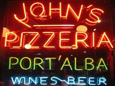 My favorite pizza in the whole world - John's Pizzeria NYC  - many locations around NYC --- A walk across the Brooklyn Bridge is a great way to see NYC and eat John's --- Upper East Side - nice location  -- the bomb!!!