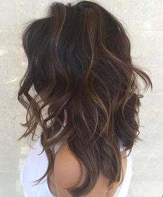 LOVE the hairstyle!!! Long Layered Hairstyle With Subtle Highlights