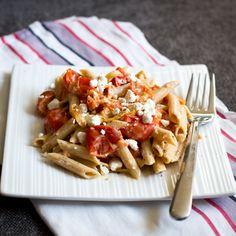 Roasted Tomato, Garlic & Goat Cheese Pasta