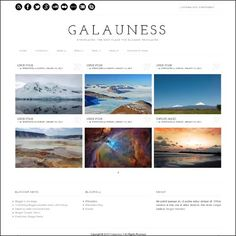 Galauness | 175+ Best Free Blogger Templates | WPRazzi