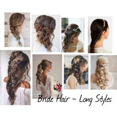 Bride hair and beauty -TIPS Wedding Design Trends 2016, 2017 ❤ liked on Polyvore featuring beauty products, haircare and hair styling tools