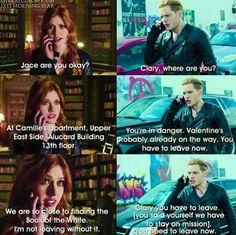 Season 1 Episode 13: Clary and Jace
