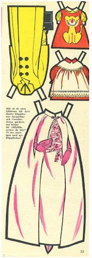 Swedish Jackie and Caroline Kennedy paper doll clothes